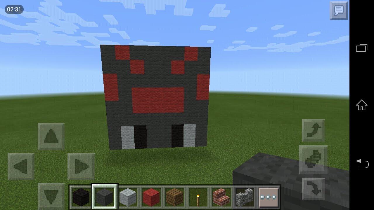 Minecraft Pe How To Make Spider Head Pixal Art