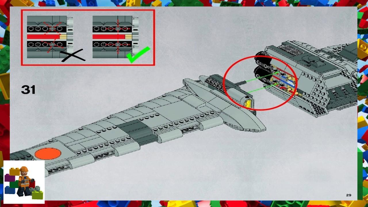 Lego Instructions Star Wars 10227 B Wing Starfighter Book 2