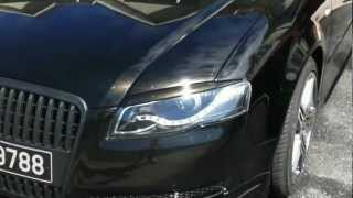 audi a4 b6 b7 front with rieger kit custom black with gold pearl flakes part 03