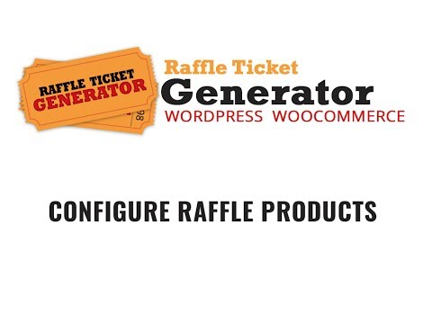 Raffle Ticket Generator Plugin V3 Configure Raffle Product in