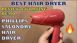 Philips SalonDry 1000 Watt Hair Dryer - Review & Demo