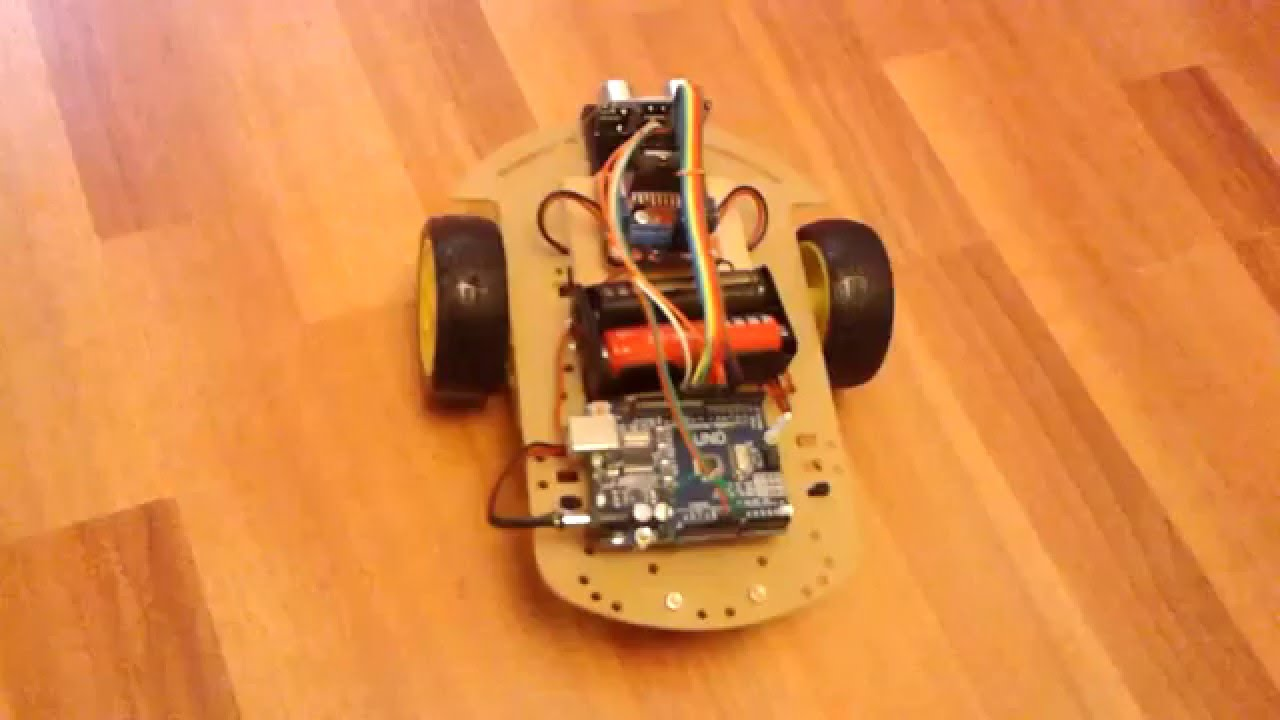 Arduino ile engelden kaçan robot youtube