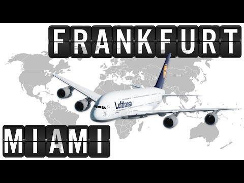 A380 Cockpit Flight Timelapse from FRANKFURT [FRA] to MIAMI [MIA] 7900km