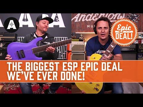 The Biggest ESP Epic Deal We've Ever Done! - Multi-Scales, Baritones, Signature Models & More