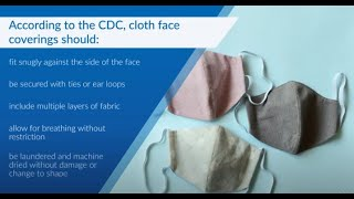 April 2020 Vector Solutions Coronavirus (COVID-19) 106:  Making & Using Face Coverings