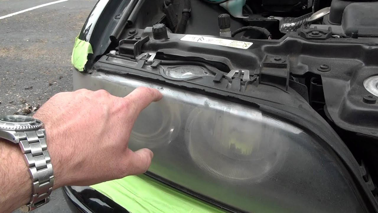 How To Restore Headlights On A Car Bmw 525i With Chuck