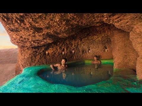 Build The Most Amazing Underground House and Swimming Pool Under the Cliff Full Episode