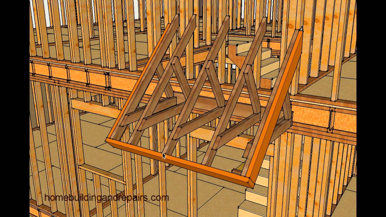 How To Frame Small Porch Roof Without Supporting Posts And