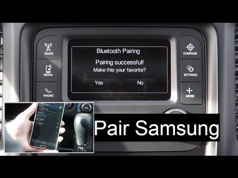 Sam Leman Dodge >> Jeep Phone Pair Bluetooth Setup Uconnect 5.0 System w/ Samsung Smart Phone - YouTube