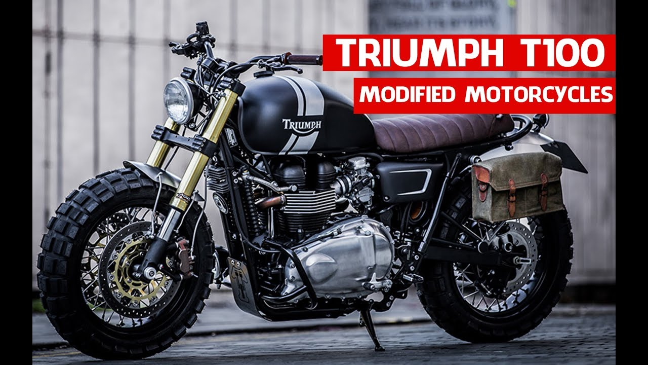 Triumph Customs Cafe Racer Down Out Triumph T100 Modified Motorcycles