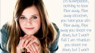 Tiffany Alvord- Titanium Lyrics (Cover)