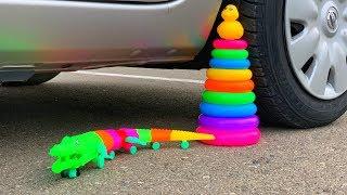 Crushing Crunchy \u0026 Soft Things by Car! - EXPERIMENT: CROCODILE VS CAR