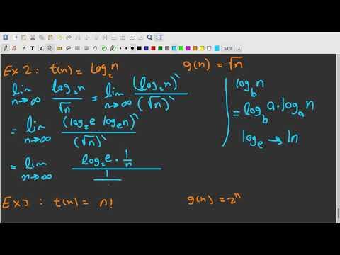 ch2 - Algorithm Efficiency - Examples on comparison using limits