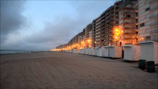 4 JUN 2013 BELGIAN COAST WESTENDE STRAND/BEACH 22.38H VIDEO  720 DPI