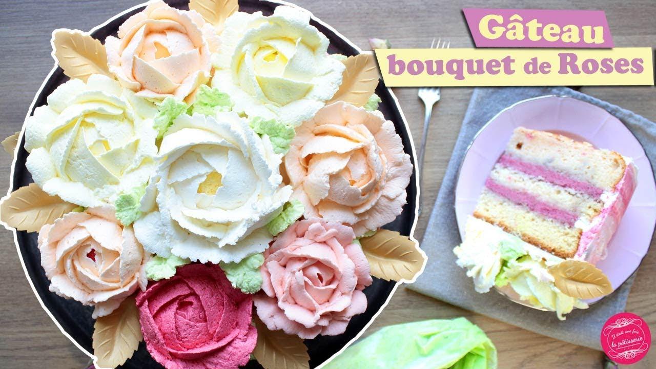 Bouquet De Fleur Pour St Valentin 🌹 rose cake ou gateau bouquet de fleurs pour la saint valentin 🌹