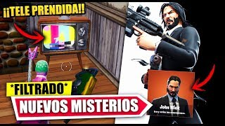 TV IS ON IN FORTNITE!! | JOHN WICK SKIN AND SECRETS *FILTRATE* FORTNITE BATTLE ROYALE