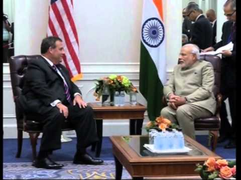 Indian PM Modi meets New Jersey Governor during his maiden U.S. visit