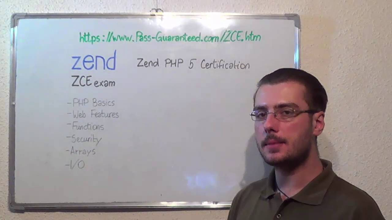 Zce Zend Exam Php 5 Test Certification Questions Youtube