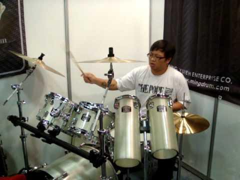 Ming Drum 2010 台北樂器展實況七.MPG