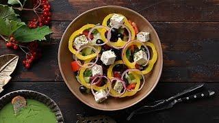 Осенний Обед: Суп-пюре с кейлом и овощной салат с брынзой