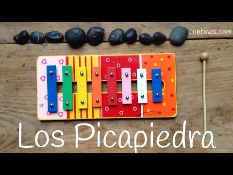Tocar en el xilófono la canción de  Los Picapiedras (The Flintstones)