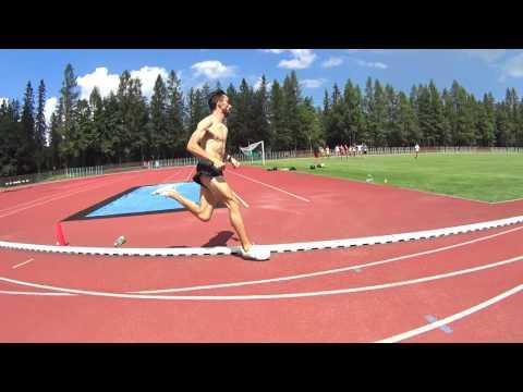 Adam Kszczot last 400m (800m race pace) Zakopane 2016 pre EC