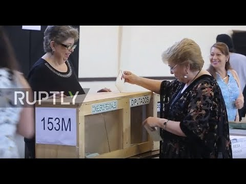 Chile: President Bachelet casts vote in election to choose her successor