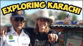 American Rickshaw Wala Traveling Pakistan Vlog #1 Karachi Ft. BrosMeetTheWorld