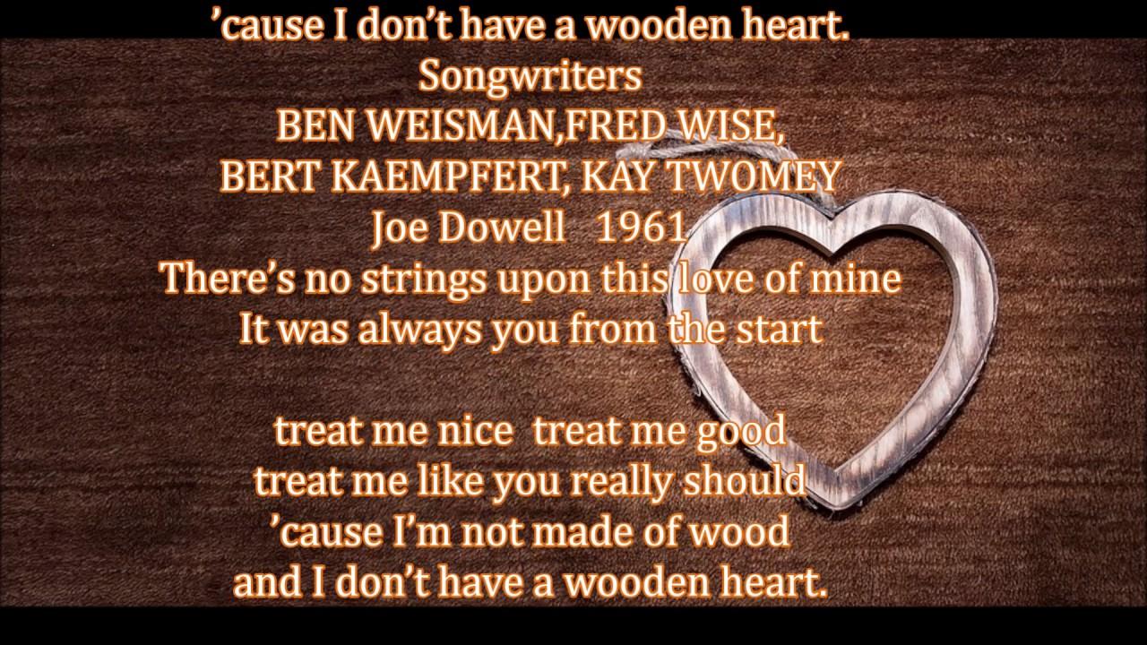 German Folk Song Wooden Heart Muss I Denn Joe Dowell