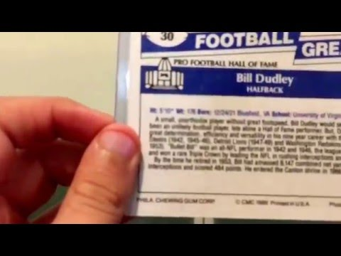 Bill Dudley Autographed Card