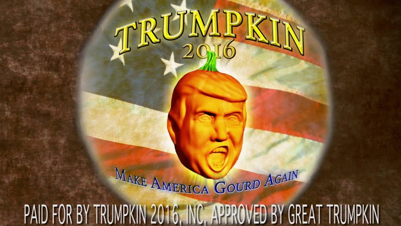 Trumpkins: Pumpkins shaped like Trump