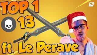 JE FAIS TOP 1 AVEC LA NOUVELLE ÉPÉE SUR FORTNITE BATTLE ROYALE ! Feat. LePerave (qui a tout fait)