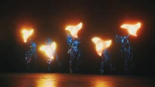 Световое неоновое шоу в Москве Fireangels - шоу RE:born 2018