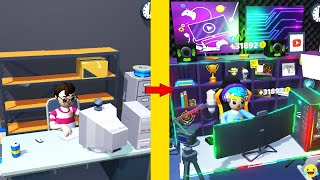 Idle Streamer! MAX LEVEL ROOMS, GAMING GEARS EVOLUTION! Idle Streamer PikaGuyy screenshot 1