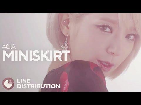 AOA - Miniskirt (Line Distribution)