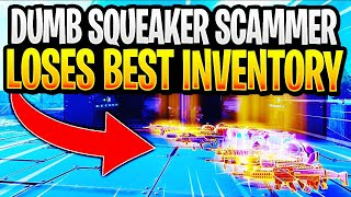 Dumb Squeaker Scammer Gets Scammed For Best Inventory! In Fortnite Save The World