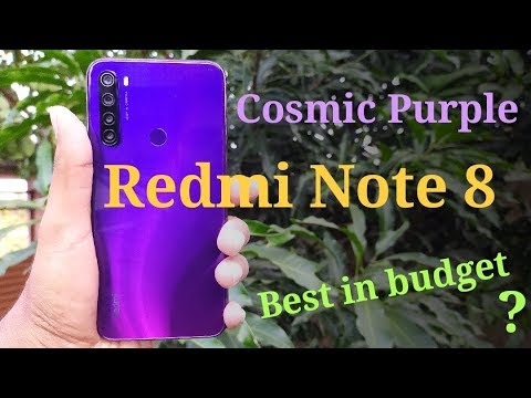 Redmi Note 8 Cosmic Purple unboxing & first look | Best budg