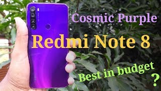 Redmi Note 8 Cosmic Purple unboxing & first look | Best budget phone? |