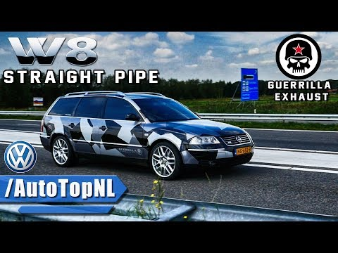 VW Passat W8 INSANELY LOUD! Guerrilla Exhaust SOUND By AutoTopNL