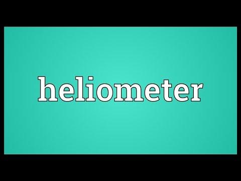Header of heliometer