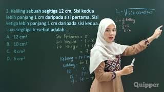 Gambar cover Quipper Video - Matematika - Segitiga dan Teorema Pythagoras [SMP]