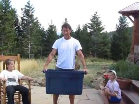 James Denton taking the ALS Ice Bucket Challenge