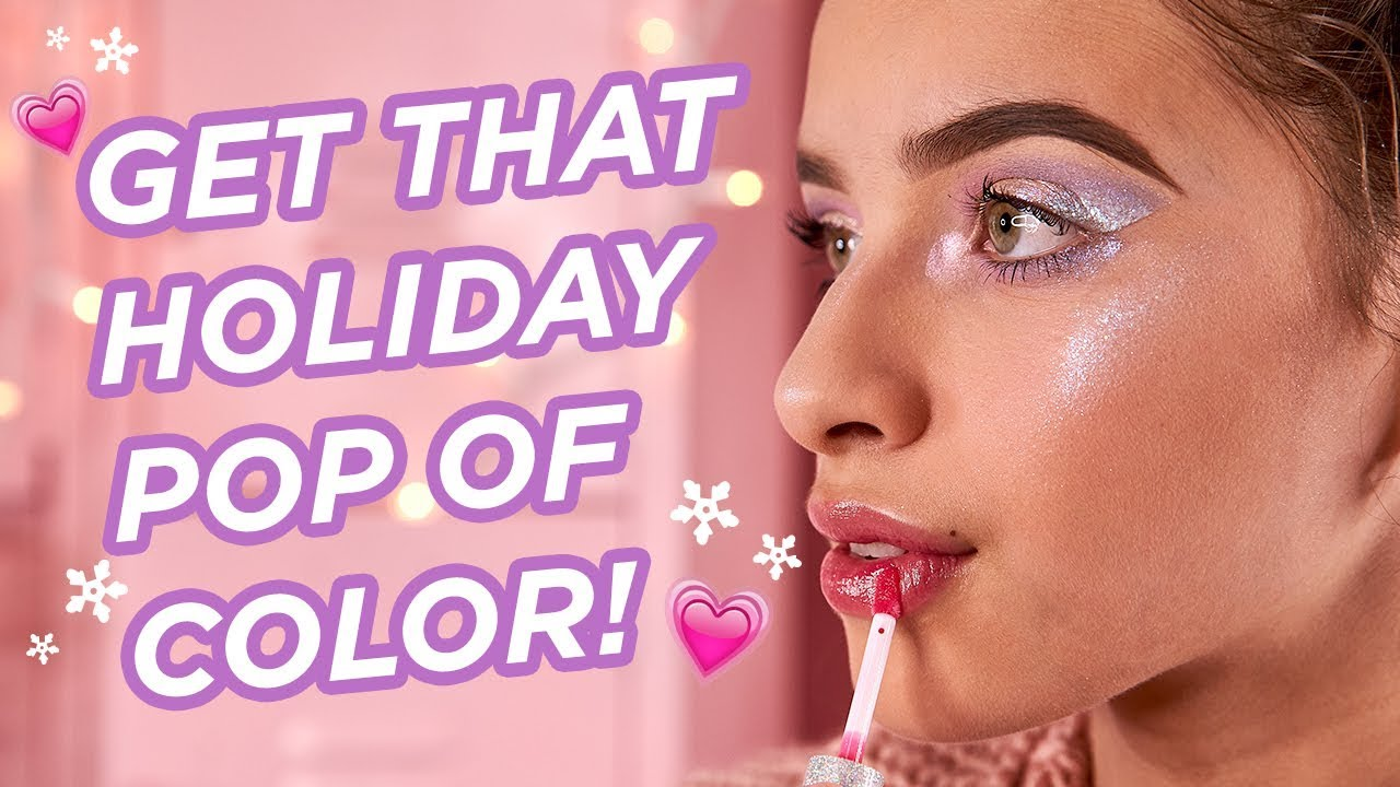 Pop Of Color Makeup Tutorial For The Holidays Petite N