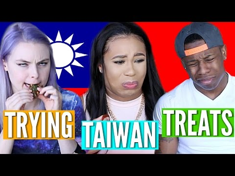 AMERICANS TRY WEIRD FOREIGN SNACKS!   TAIWAN TREATS! ♥ BeautybyGenecia
