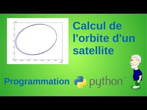 Simulation d'orbite de satellite en langage Python