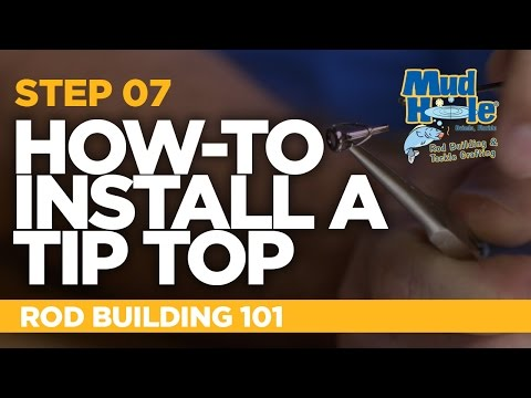 How-To Install A Tip Top On A Fishing Rod | Rod Building 101