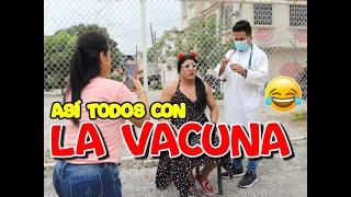 Así todos cuando se van a vacunar