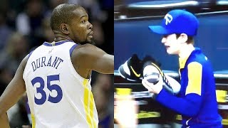 Kevin Durant Makes Young Warriors Fan CRY