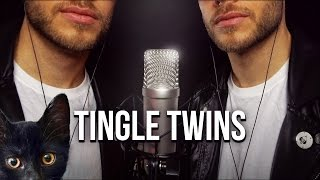ASMR TINGLE TWINS   Ear to Ear Whispering, Awesome Triggers & Lots of Kitty Cats