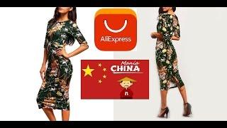 Посылка из Китая AliExpress - Очень красивое зеленое платье / распаковка и обзор / Unboxing